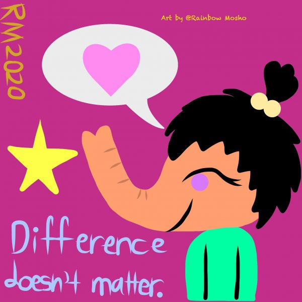 Difference doesn't matter - postcard